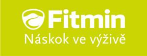 bílé logo Fitmin v zeleném poli